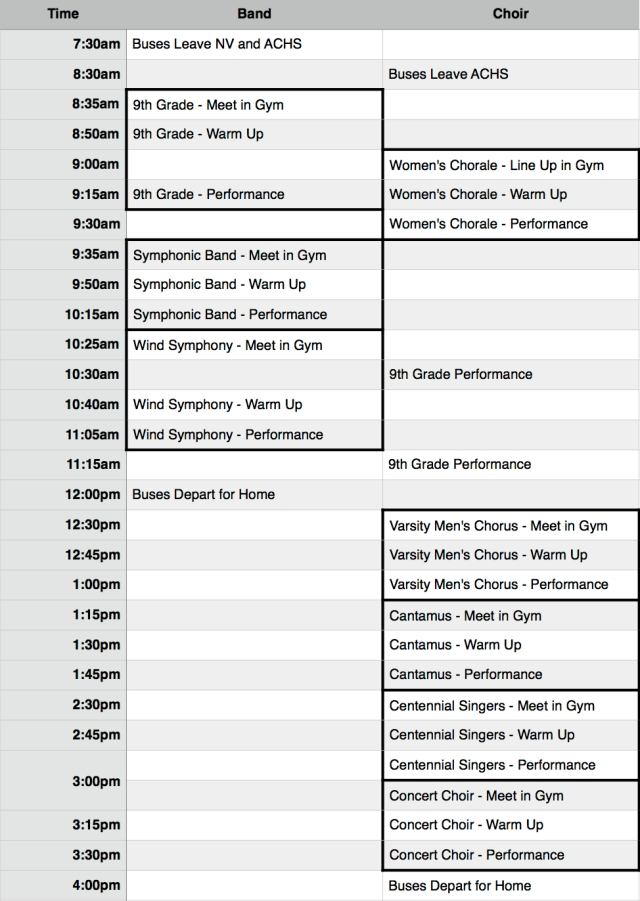 2015 LG Itinerary